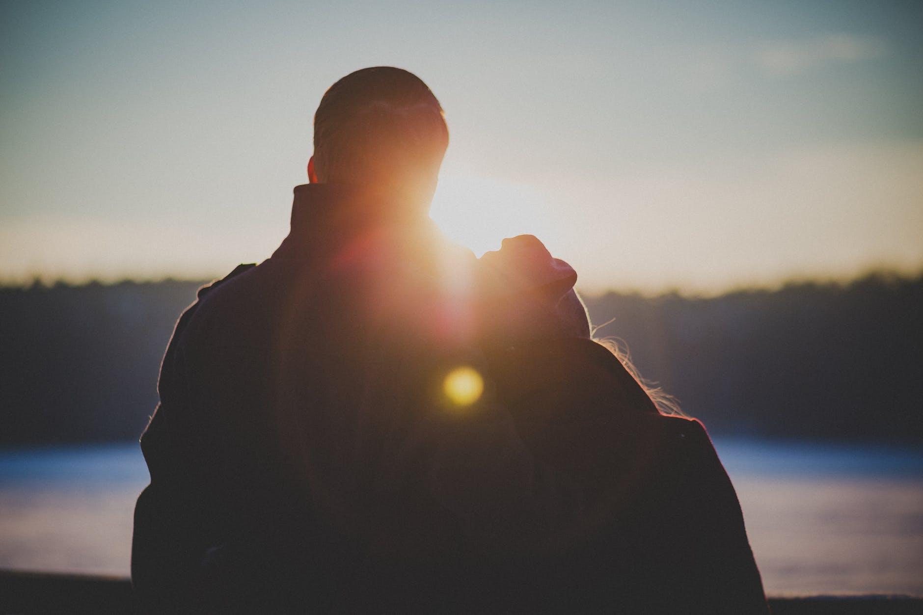 love couple sunset sunrise